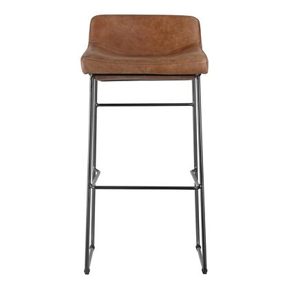 Starlet Collection PK-1107-14 Bar Stool with Iron Legs in Brown