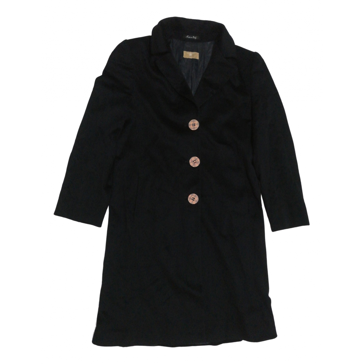 Loro Piana \N Black Wool coat for Women 44 IT