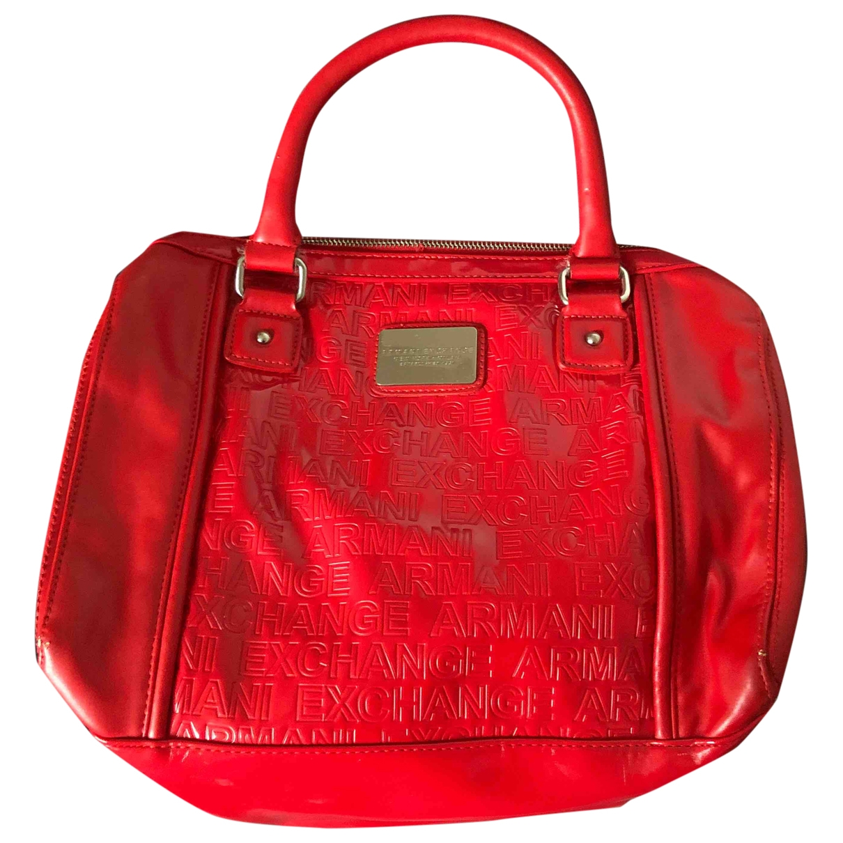 Emporio Armani \N Handtasche in  Rot Polyester