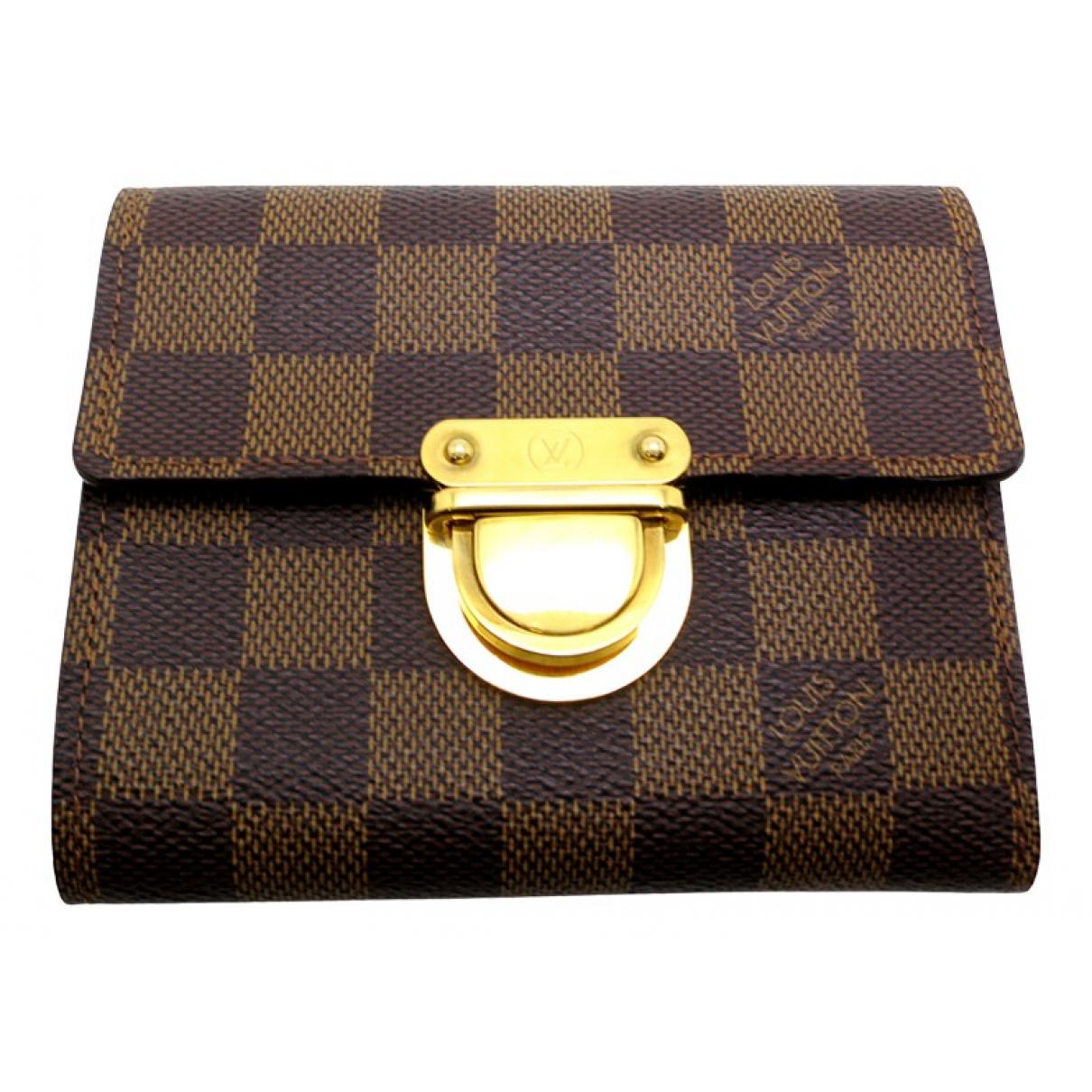 Louis Vuitton Koala Brown Cloth wallet for Women N