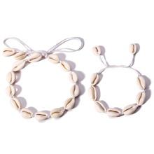 Halskette mit Schale Design & Armband Set