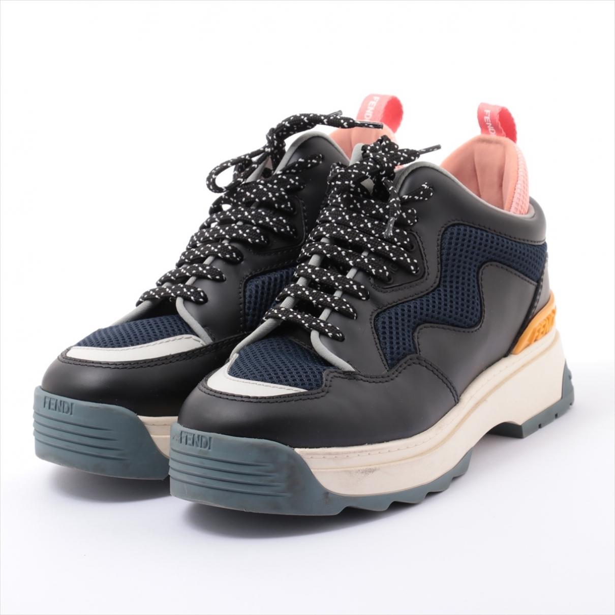 Fendi \N Multicolour Leather Trainers for Women 36 EU