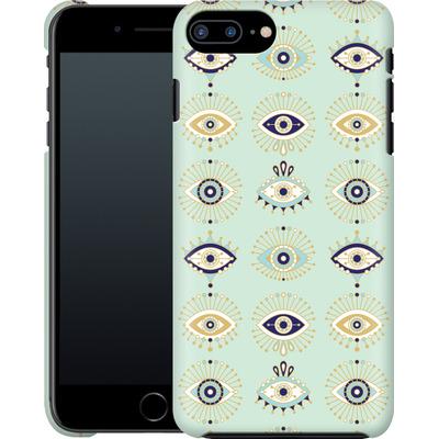 Apple iPhone 8 Plus Smartphone Huelle - Evil Eyes Mint von Cat Coquillette