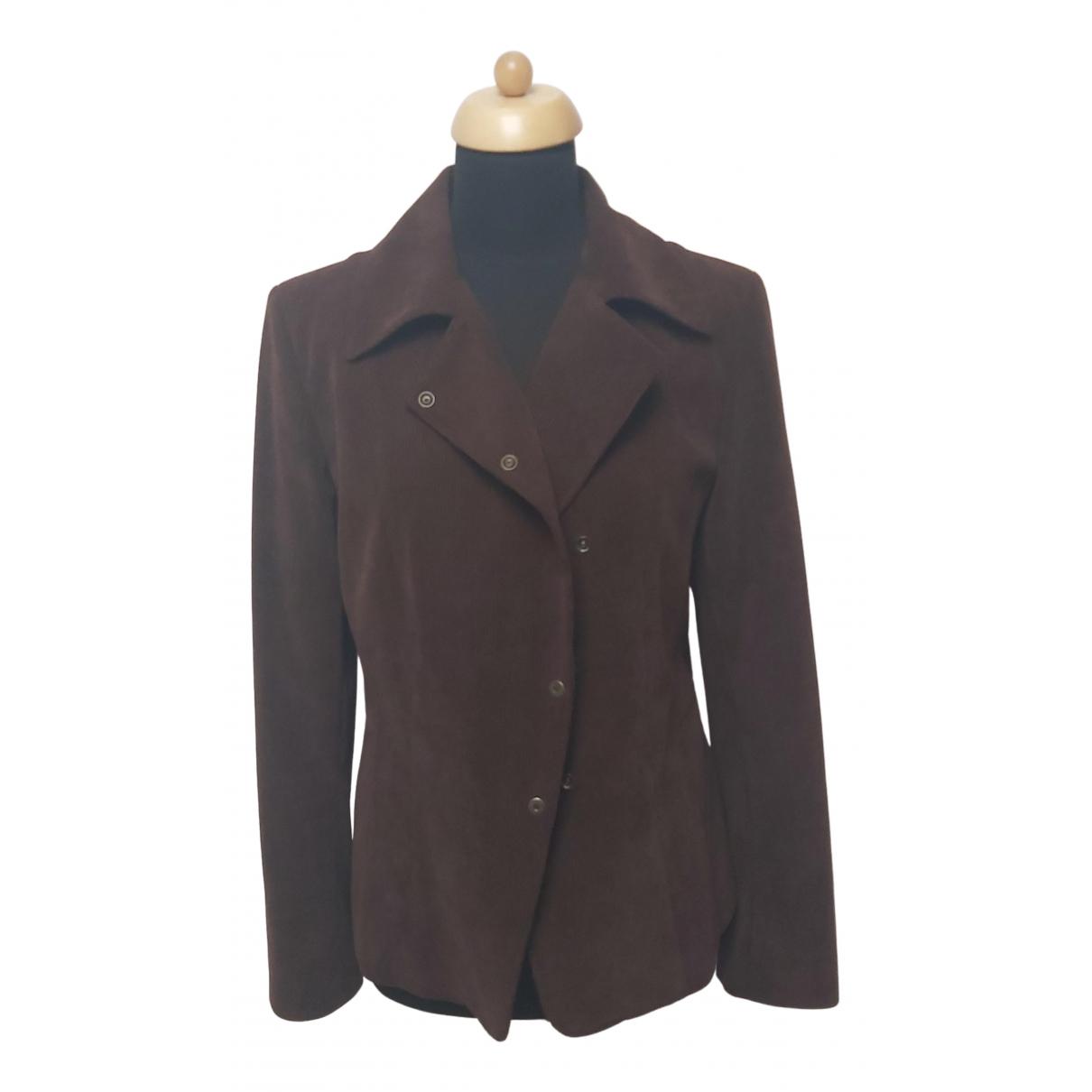 Gerard Darel - Manteau   pour femme en tweed - marron