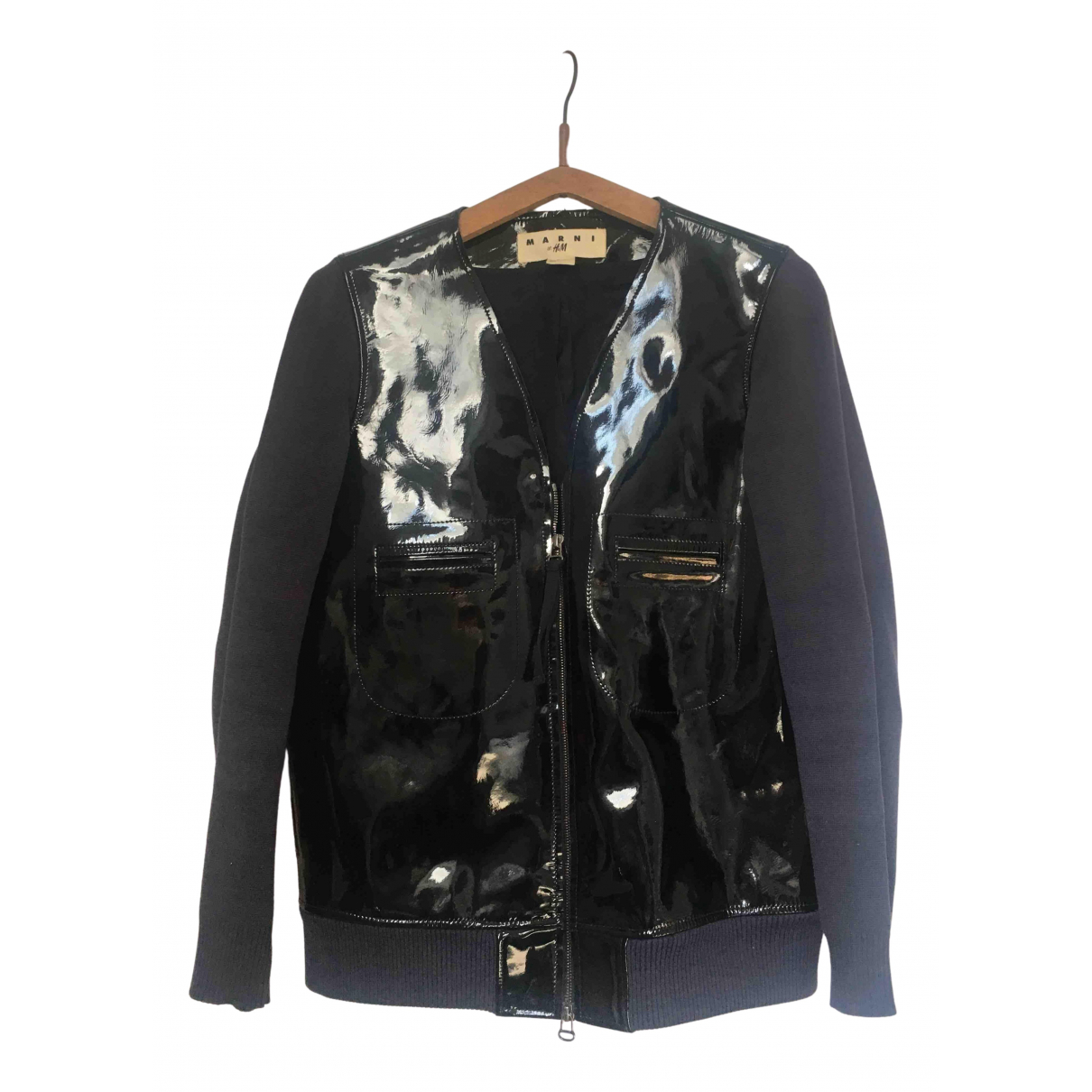 Marni For H&m \N Black Leather jacket for Women 36 FR