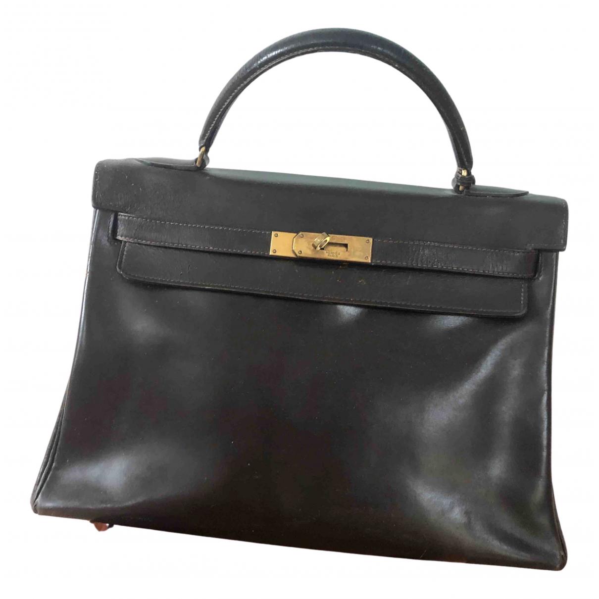 Hermes Kelly 32 Handtasche in  Braun Leder