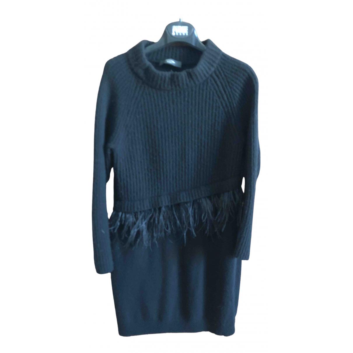 Max Mara Weekend \N Kleid in  Schwarz Wolle