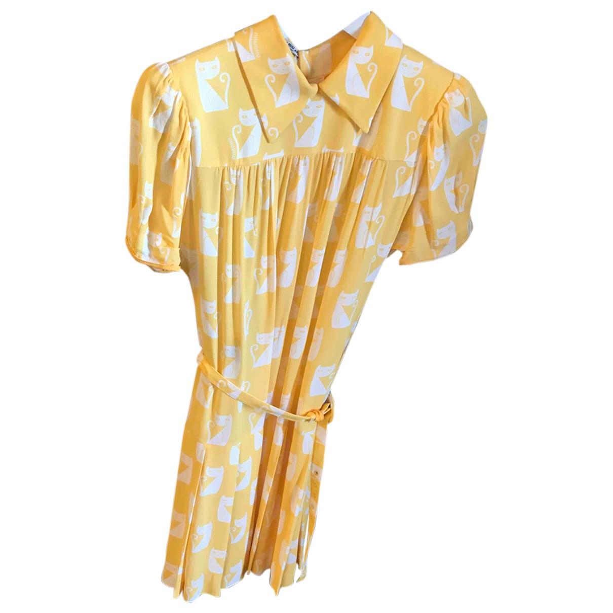 Miu Miu N Yellow dress for Women 40 IT