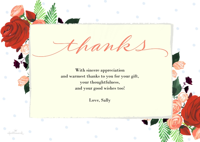 Thank You Cards Flat Matte Photo Paper Cards with Envelopes, 5x7, Card & Stationery -Letter Framed Thanks