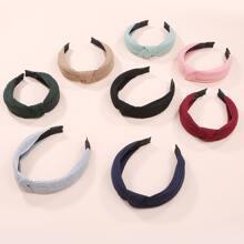 8 Stuecke Haarband mit Knoten Dekor
