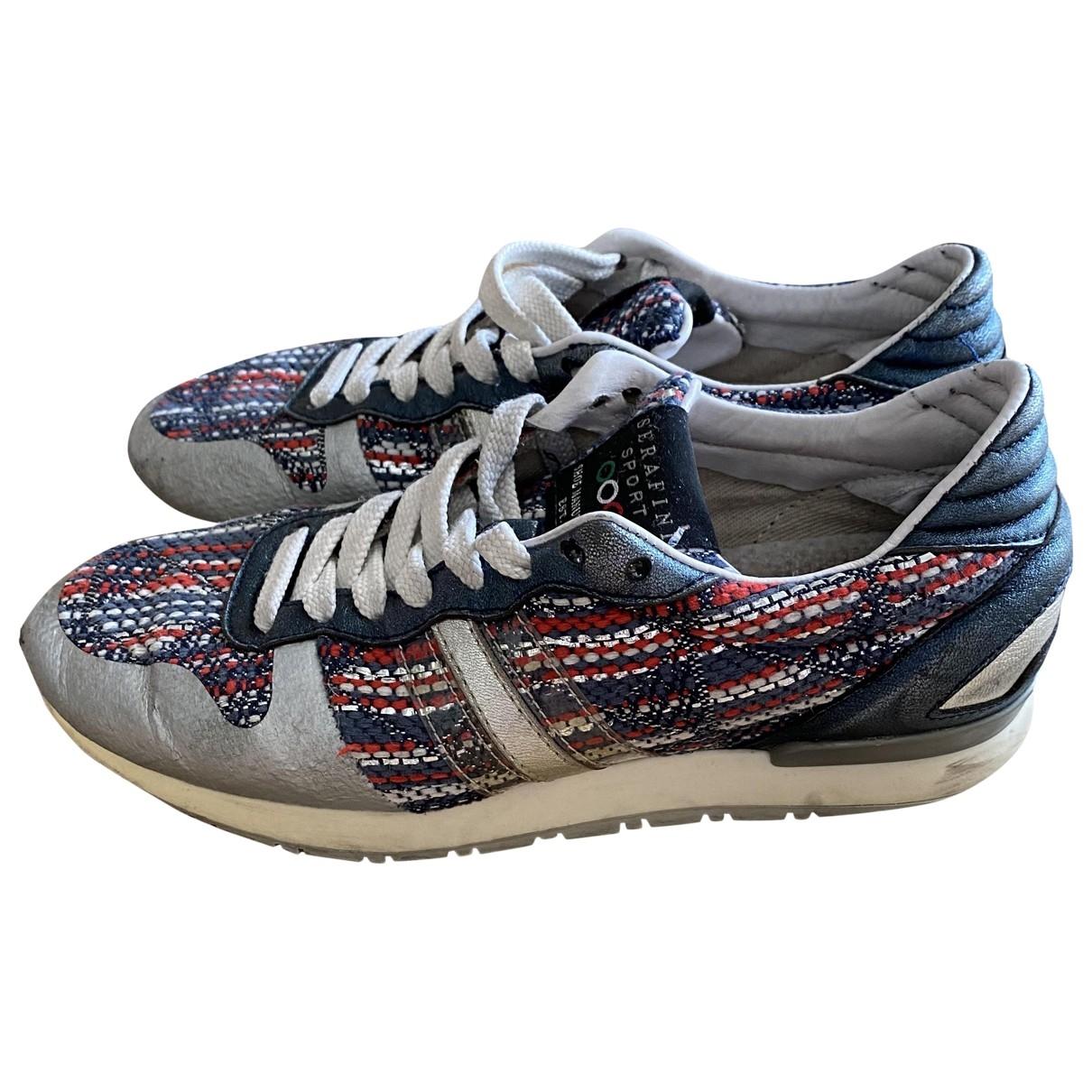 Serafini \N Sneakers in  Silber Tweed