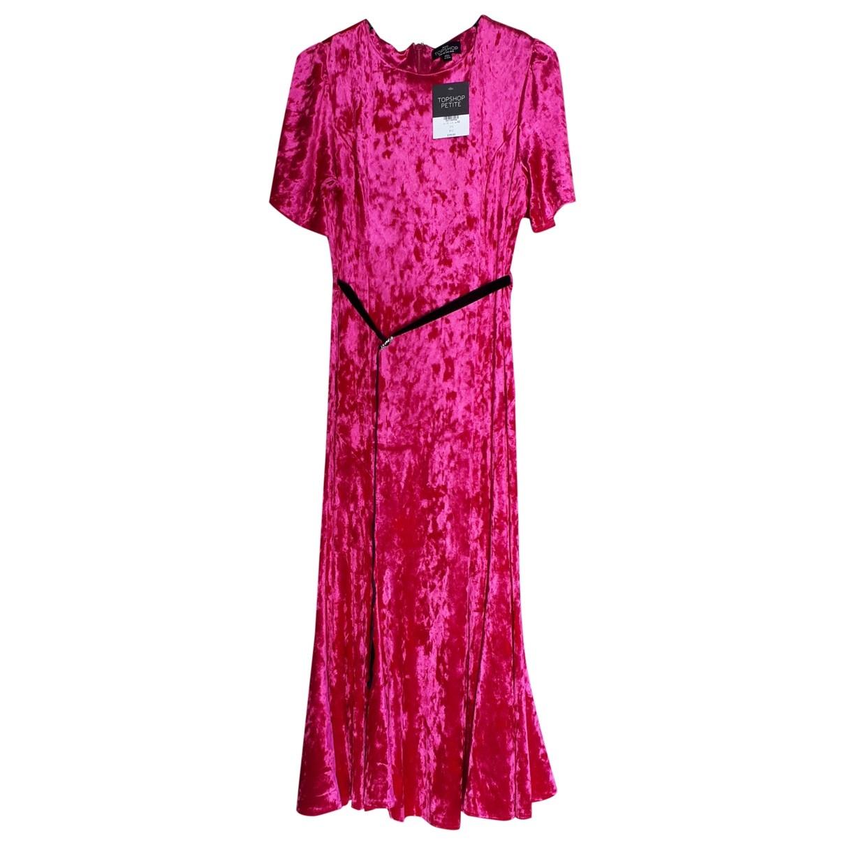 Tophop \N Kleid in  Rosa Samt
