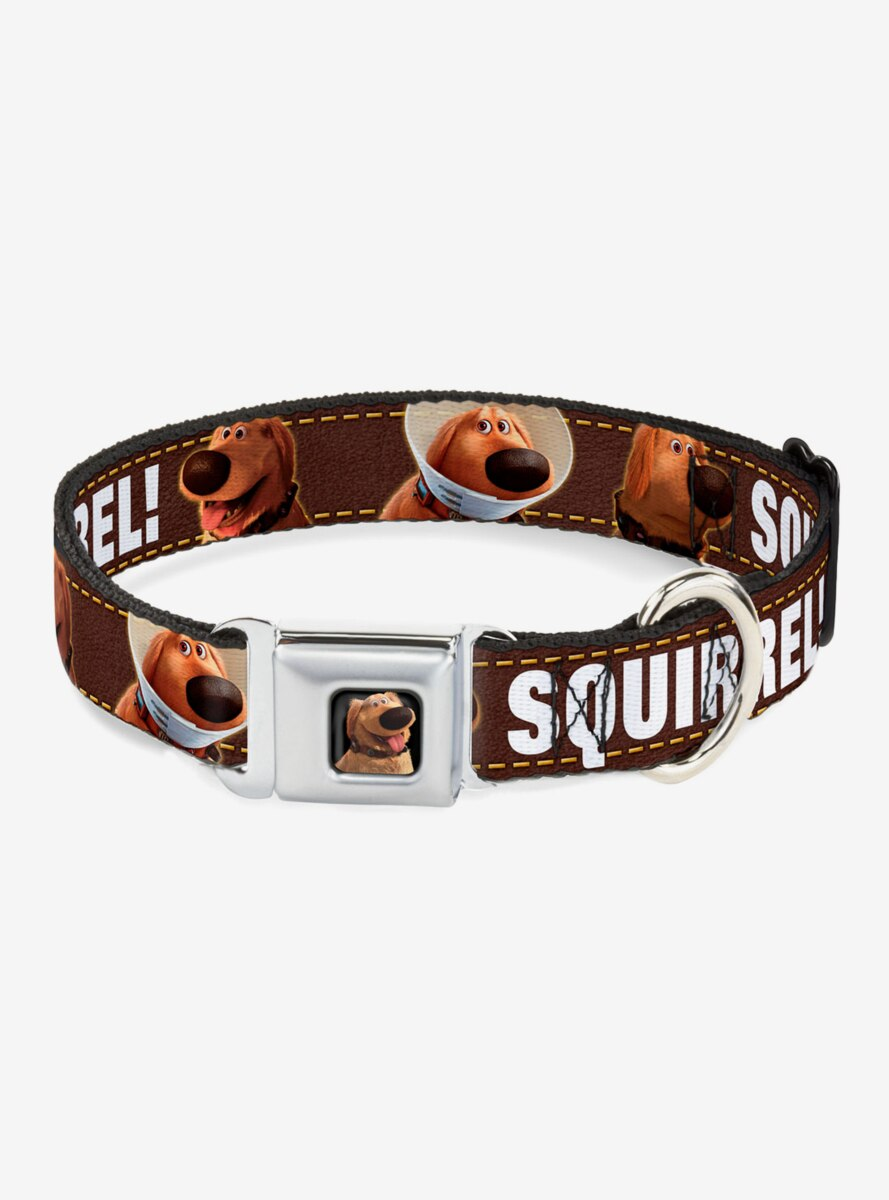 Disney Pixar Up Dug Poses Squirrel Dog Collar Seatbelt Buckle