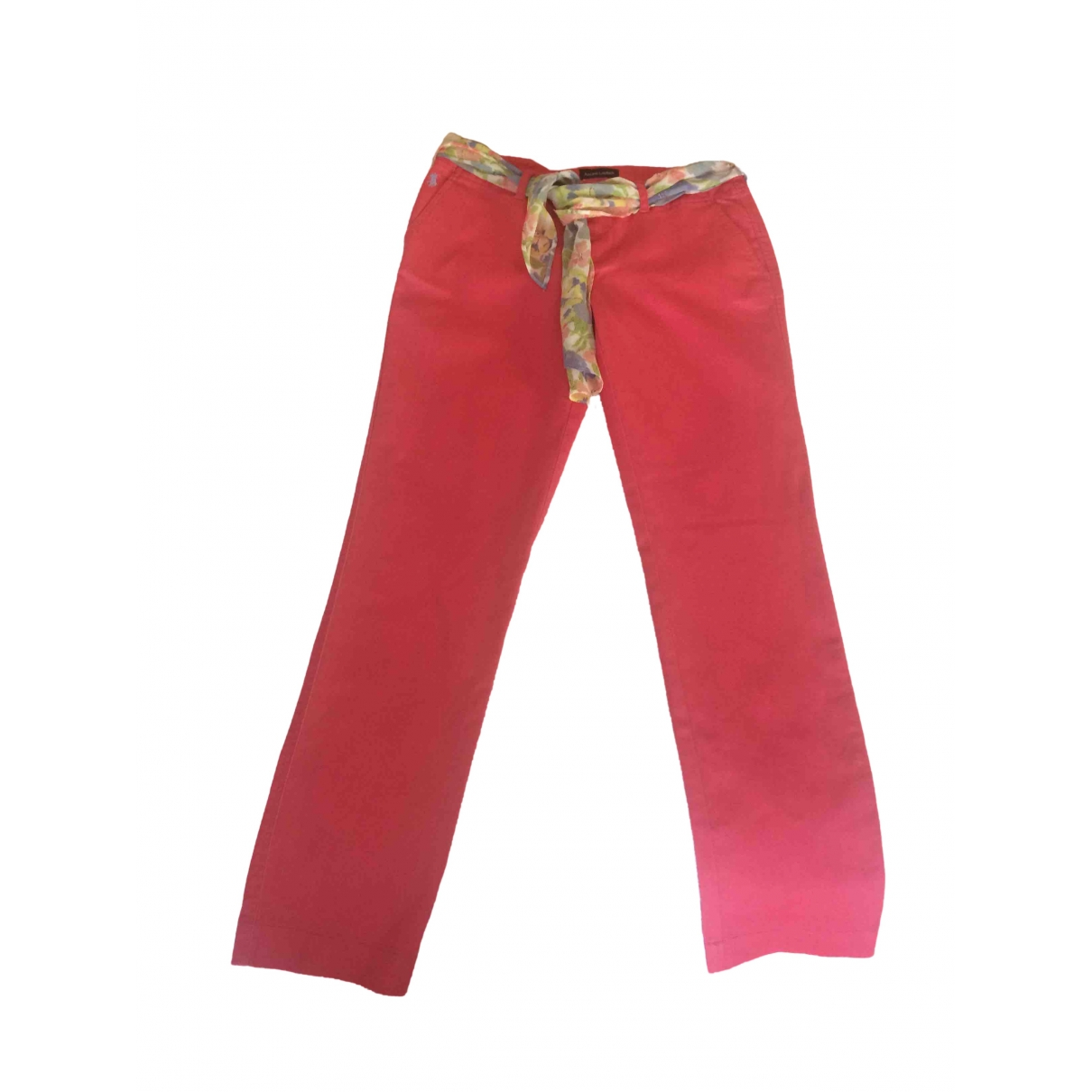 Ralph Lauren \N Pink Cotton Trousers for Kids 14 years - S FR