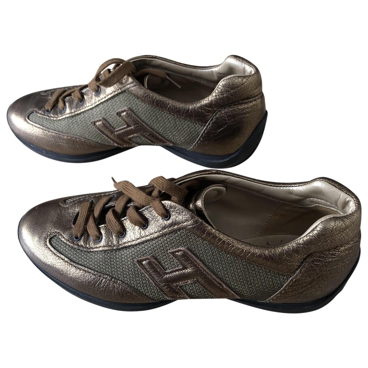 Hogan \N Sneakers in  Gold Leder