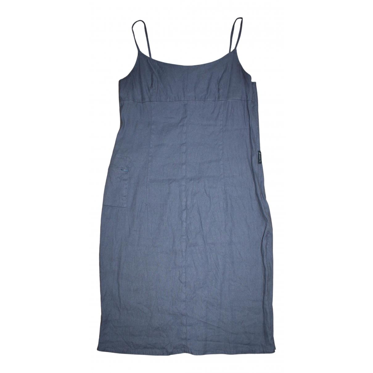 Armani Jeans \N Kleid in  Blau Leinen