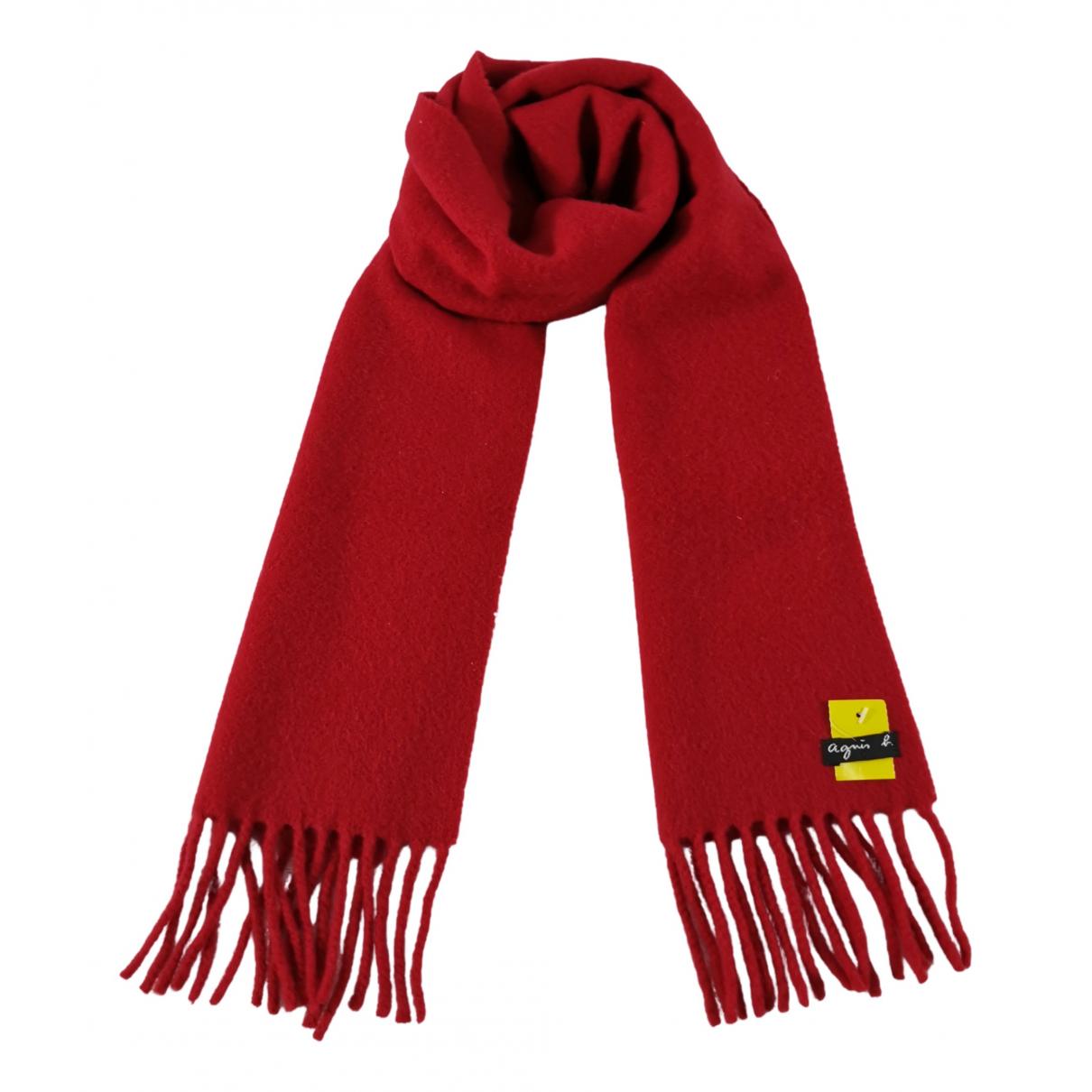 Agnes B. - Foulard   pour femme en laine - rouge