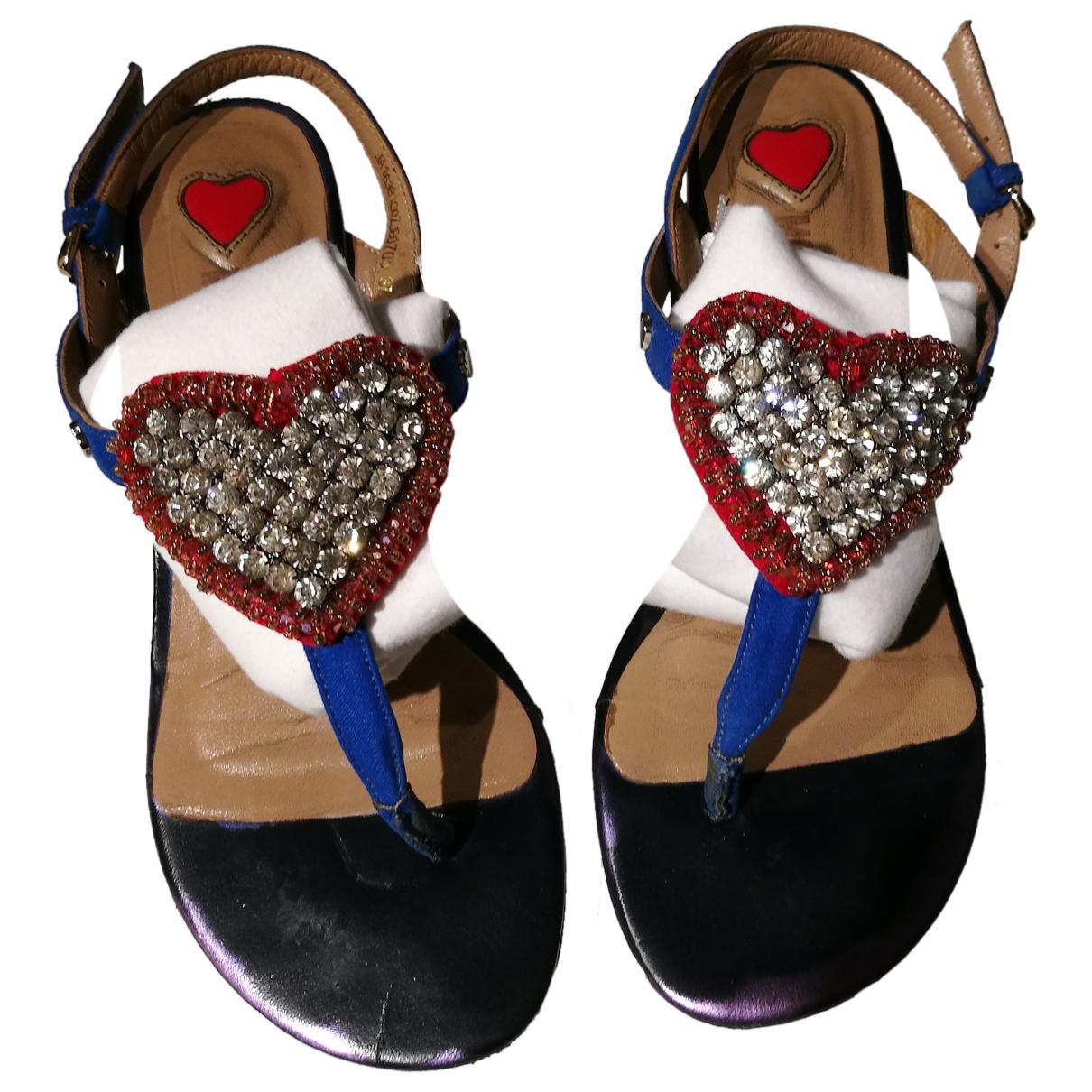 Moschino Love \N Sandalen in  Blau Mit Pailletten