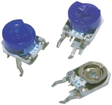 TE Connectivity 200kΩ, Through Hole Trimmer Potentiometer 0.2W Side Adjust , 416 (10)