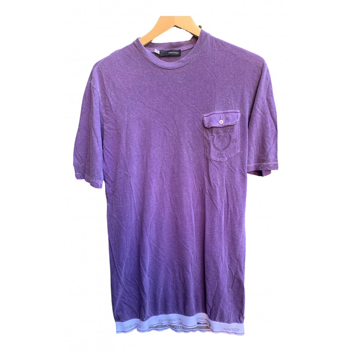 Dsquared2 \N Purple Cotton T-shirts for Men S International