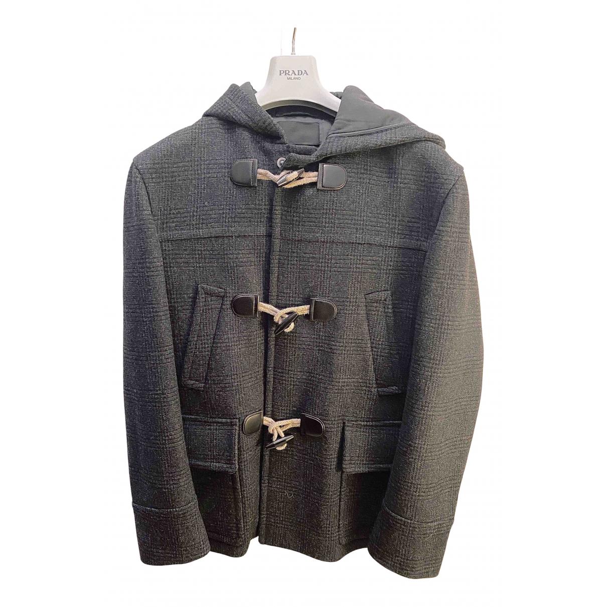 Prada - Manteau   pour homme en laine - gris