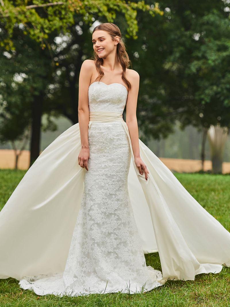 Ericdress Sweetheart Lace Mermaid Watteau Train Wedding Dress