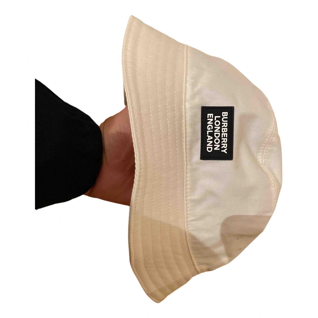 Burberry N White Cotton hat & pull on hat for Men L International