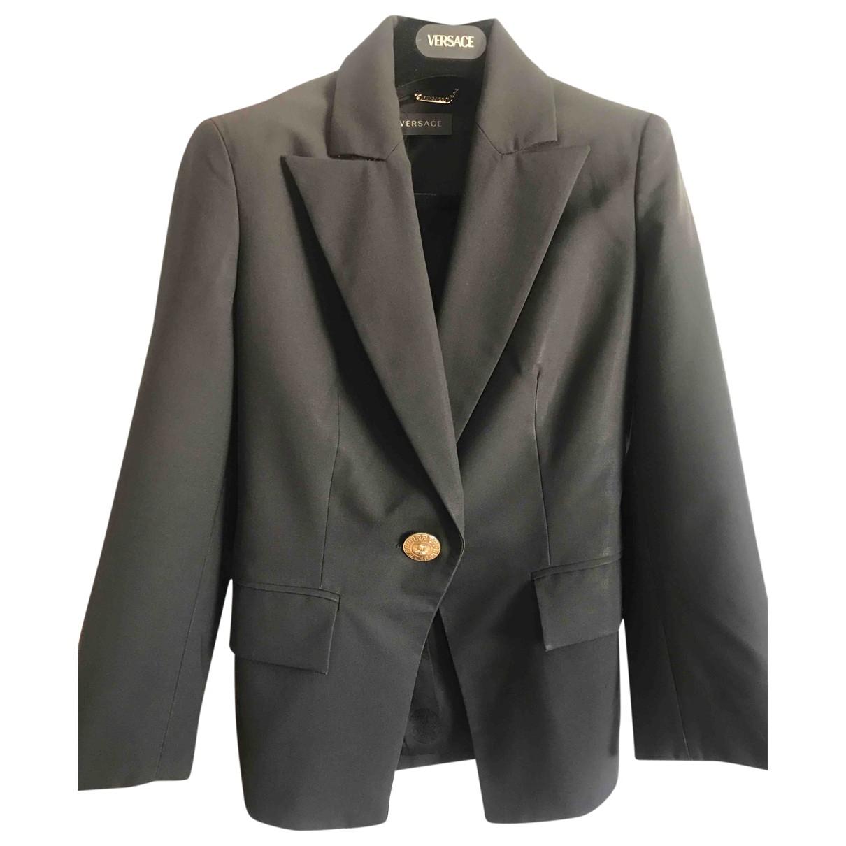Versace \N Black Wool jacket for Women 36 IT