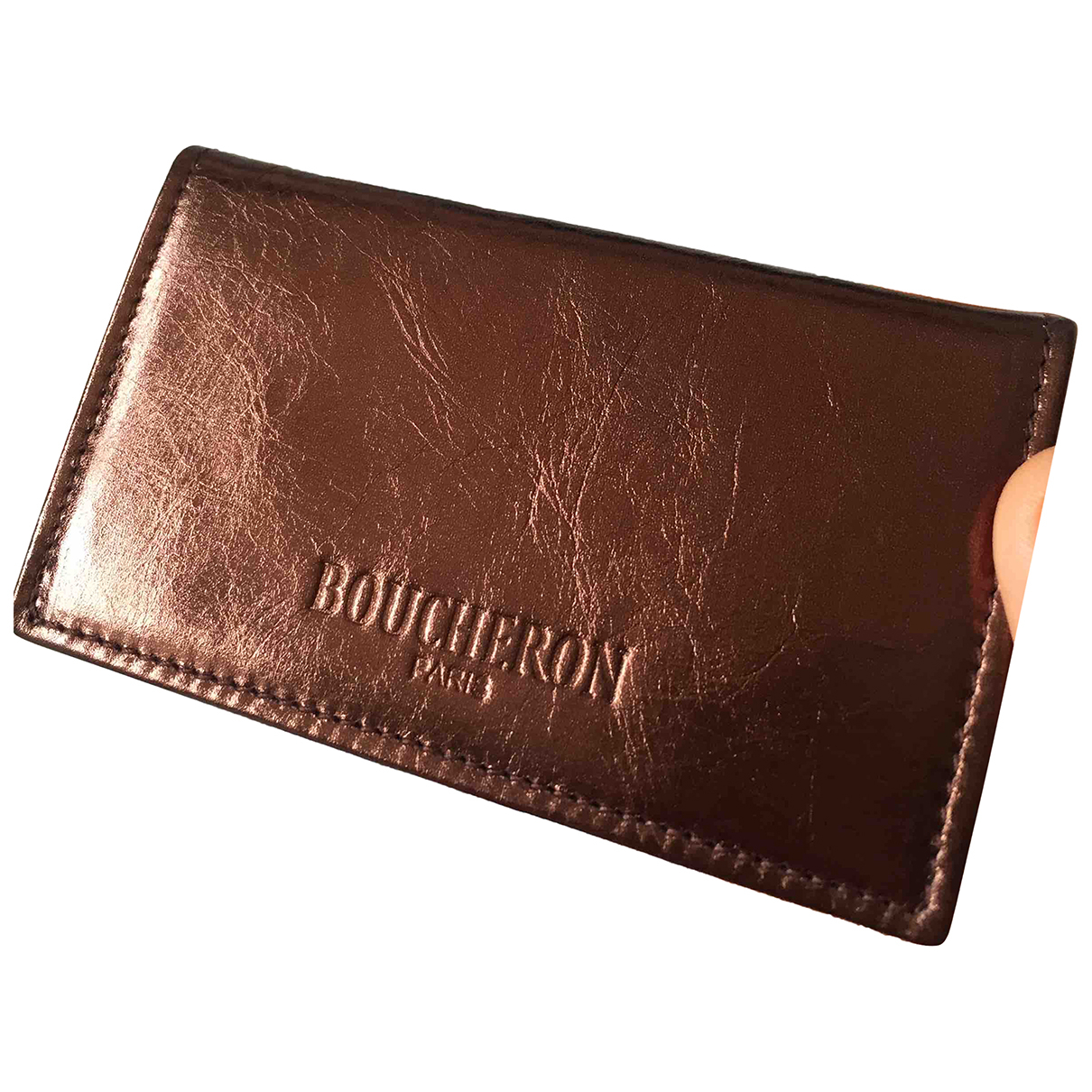 Boucheron \N Metallic Leather Purses, wallet & cases for Women \N