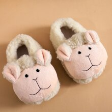 Baby Girl Cartoon Design Fluffy Slippers