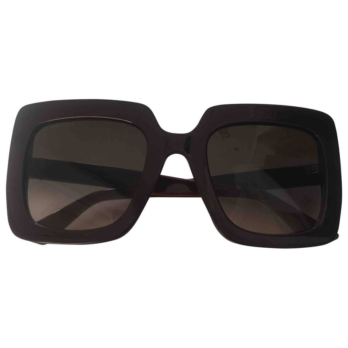 Gucci \N Sonnenbrillen in  Bordeauxrot Kunststoff