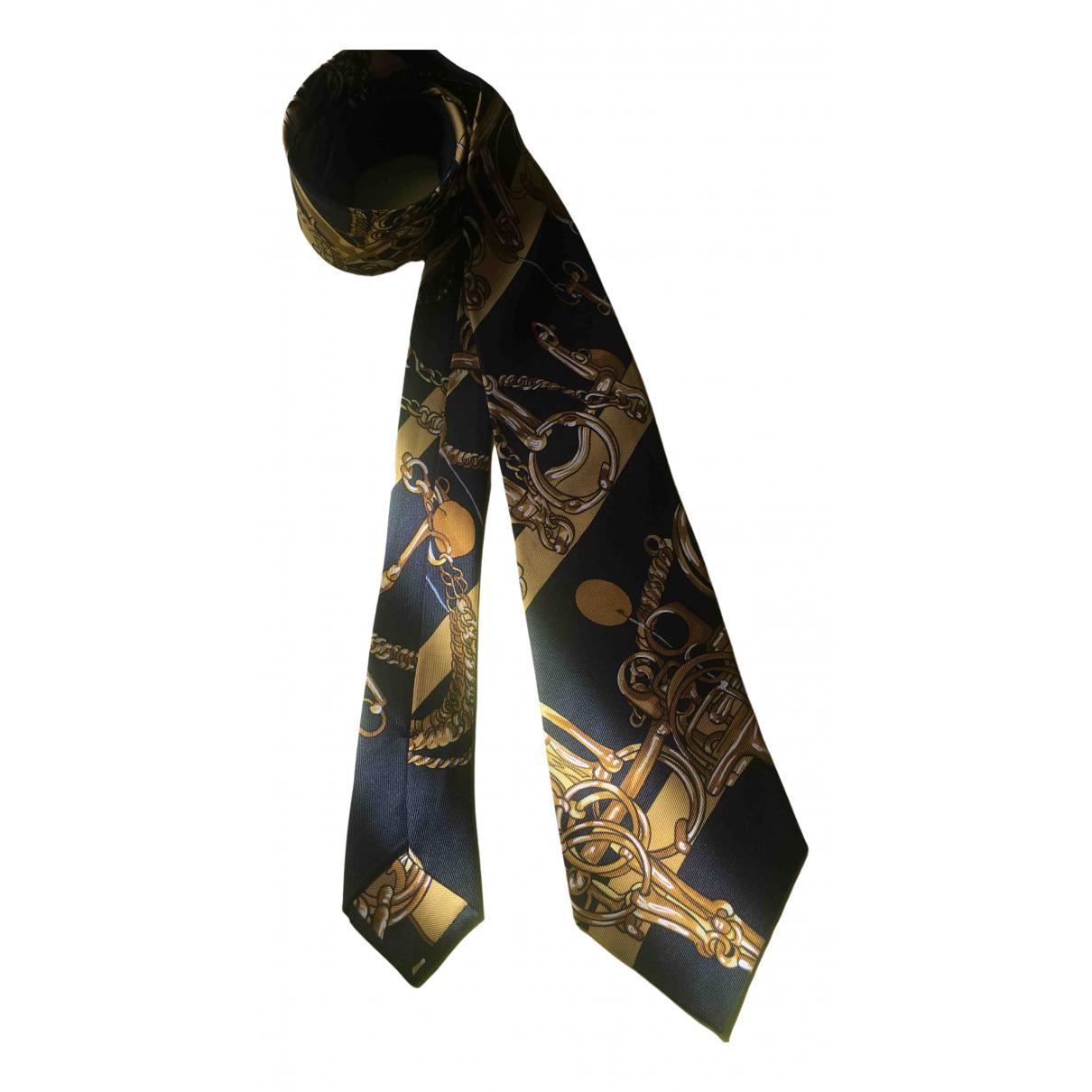 Hermes - Cravates   pour homme en soie - dore