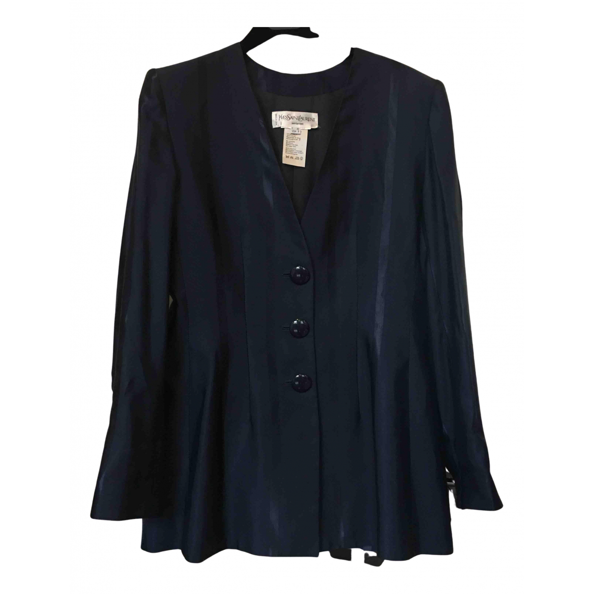 Yves Saint Laurent N Blue jacket for Women 40 FR