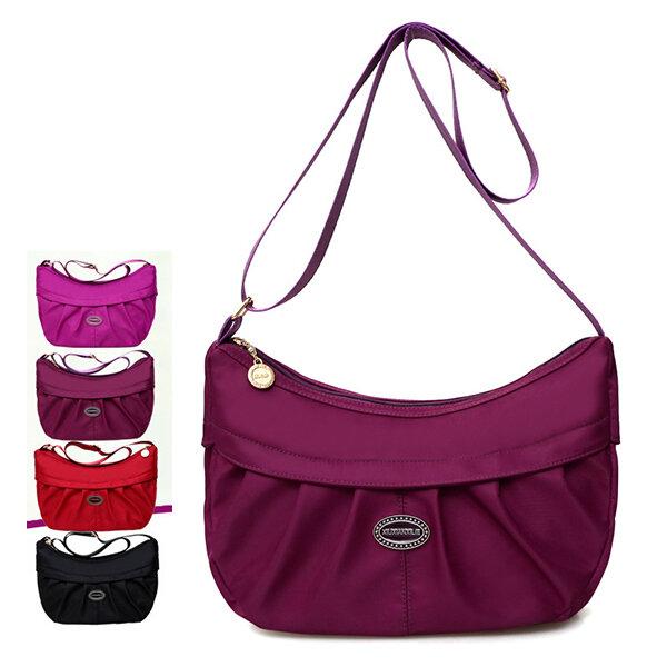 Women Nylon Shopping Bag Dumpling Bag Elegant Crossbody Bag
