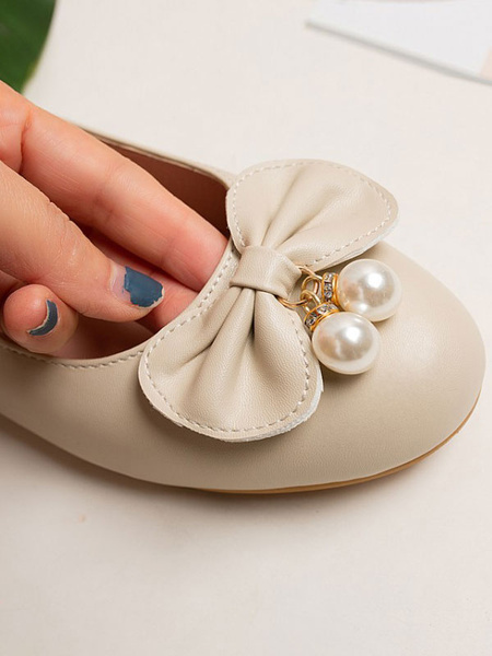 Milanoo Sweet Lolita Footwear White Bows Round Toe PU Leather Lolita Pumps