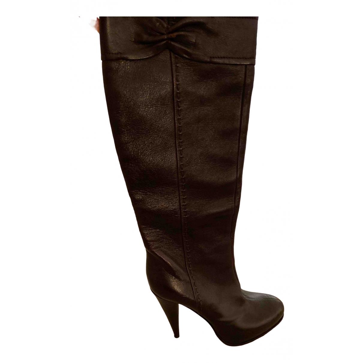 Dior \N Stiefel in  Braun Leder