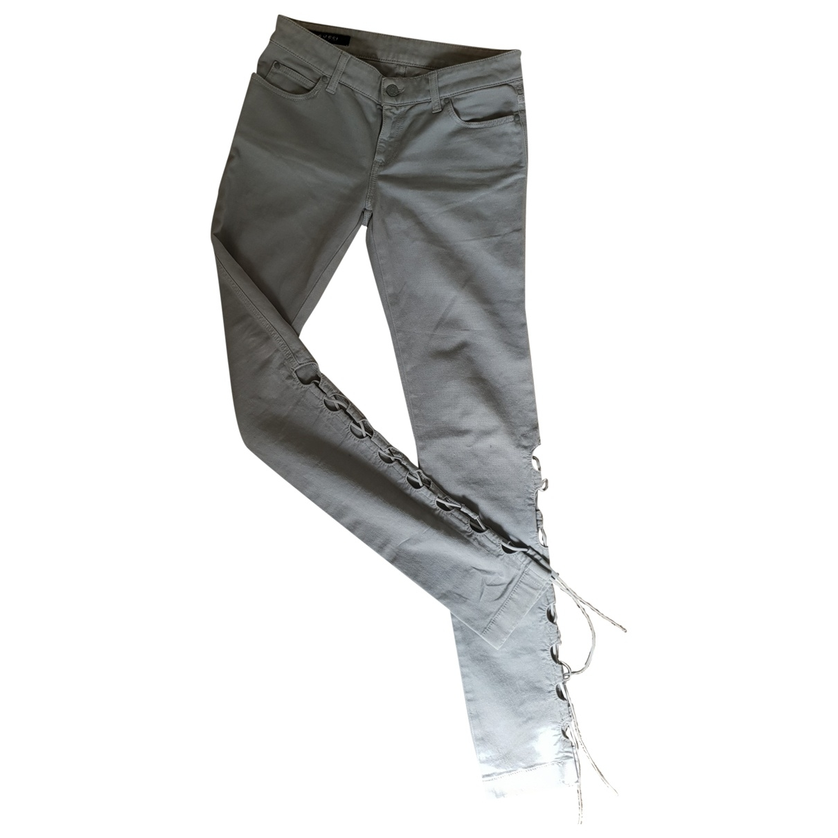 Gucci \N Grey Cotton - elasthane Jeans for Women 38 FR