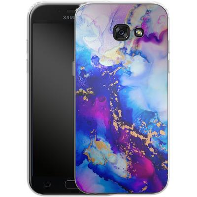 Samsung Galaxy A5 (2017) Silikon Handyhuelle - Cosmic Swirl IV von Stella Lightheart