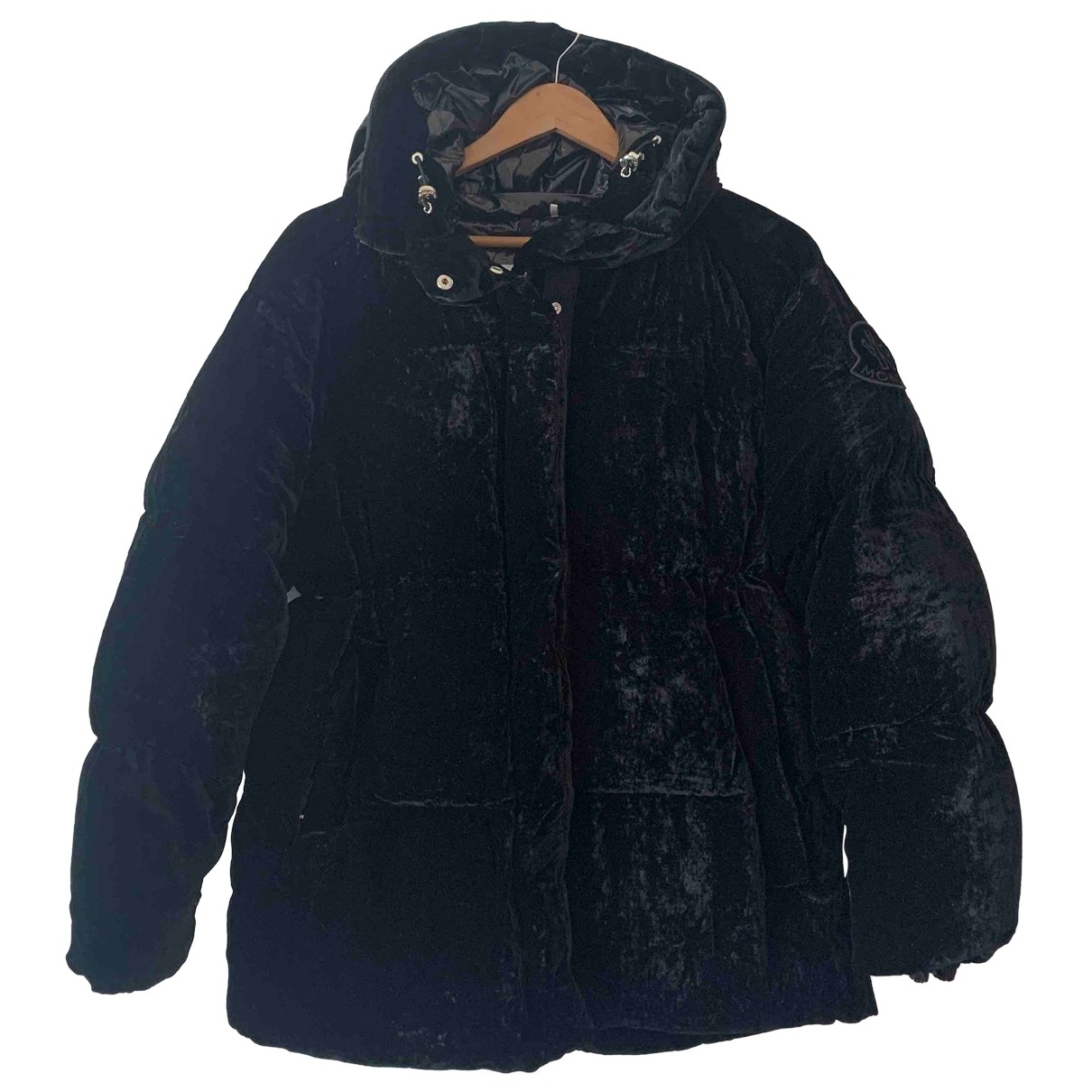 Moncler - Manteau   pour femme en velours - noir