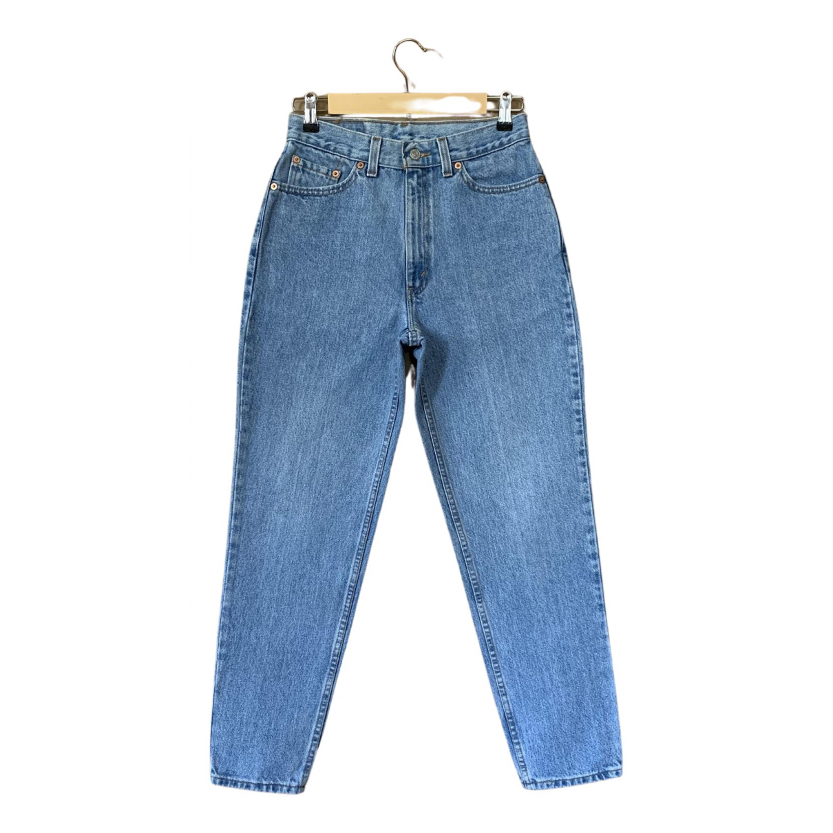 Levi's Vintage Clothing \N Blue Cotton Jeans for Women 38 FR