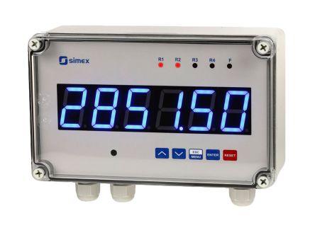 Simex SLIK-638, 6 Digit, LED, Pulse Counter, 90Hz, 230 V ac