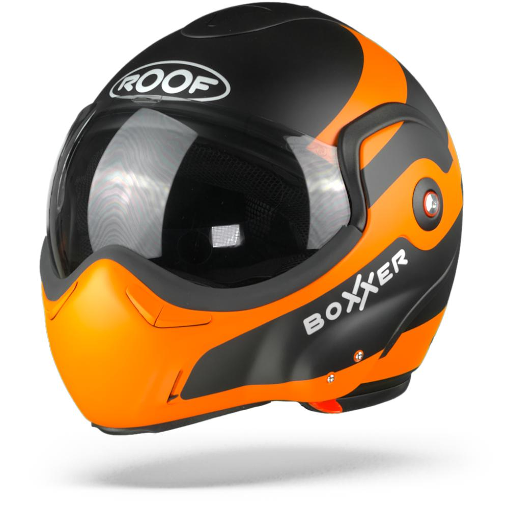 ROOF BoXXer Fuzo Casque Modulable Orange Noir Mat L