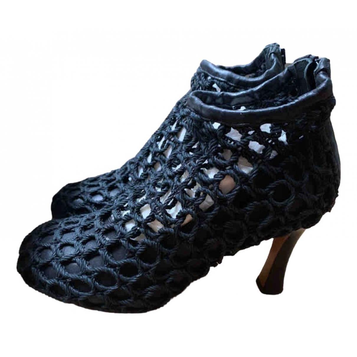 Celine - Boots   pour femme en toile - noir