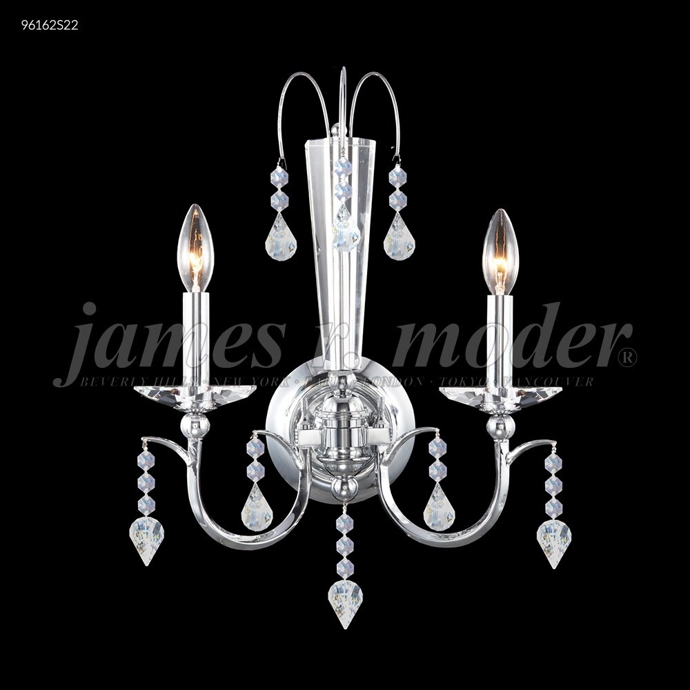 James R. Moder 96162S22 Two Light Wall Sconce Medallion Silver - One Size (One Size - Clear)