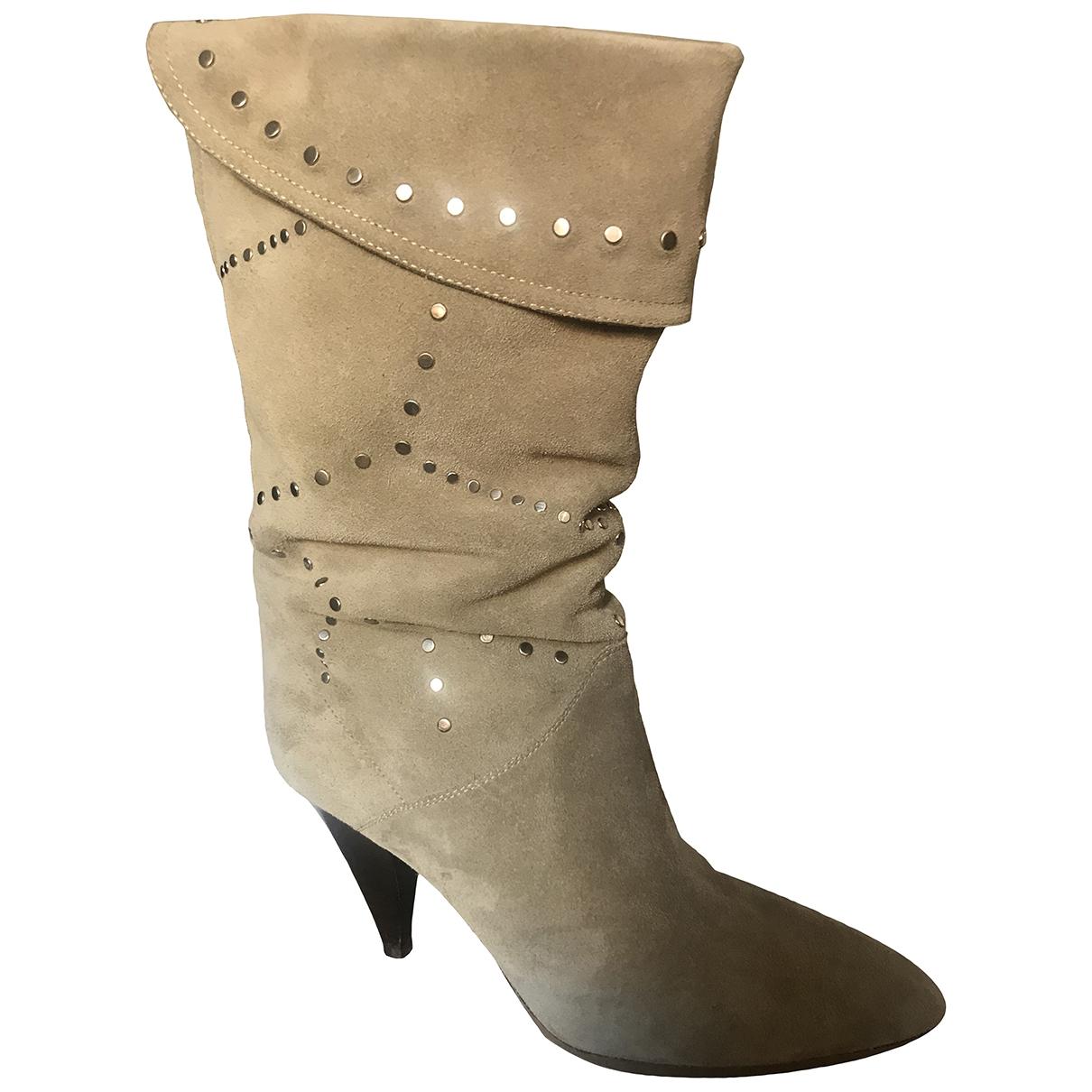 Isabel Marant - Boots   pour femme en suede - beige