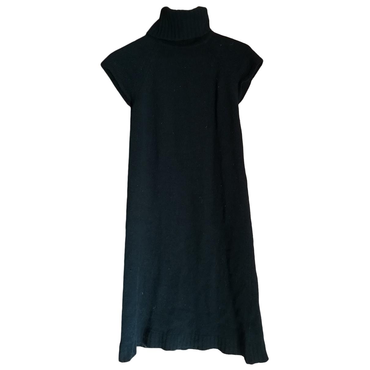 Zara - Robe   pour femme en laine - noir