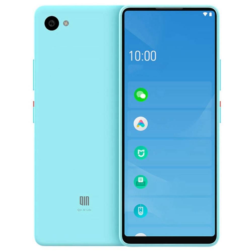 QIN Full Screen Bar Phone CN Version 4G LTE 5.05 Inch FHD+ Screen 1GB RAM 32GB ROM Android 9.0 - Blue