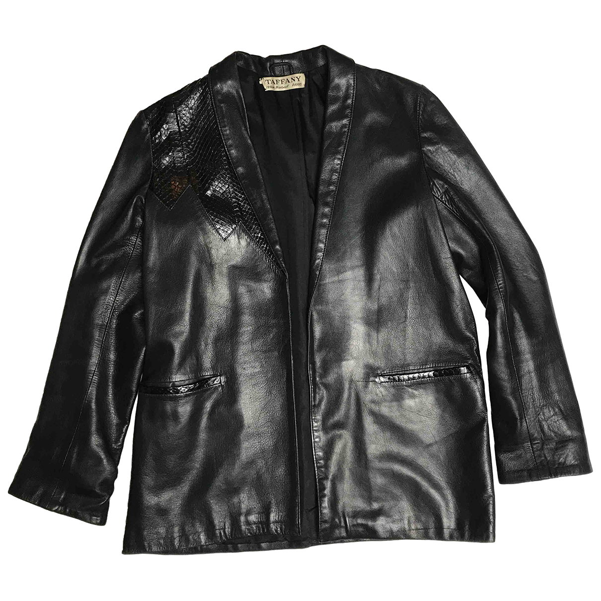 Non Signé / Unsigned N Black Leather jacket for Women 42 IT