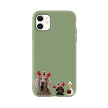 Christmas Dog Print iPhone Case
