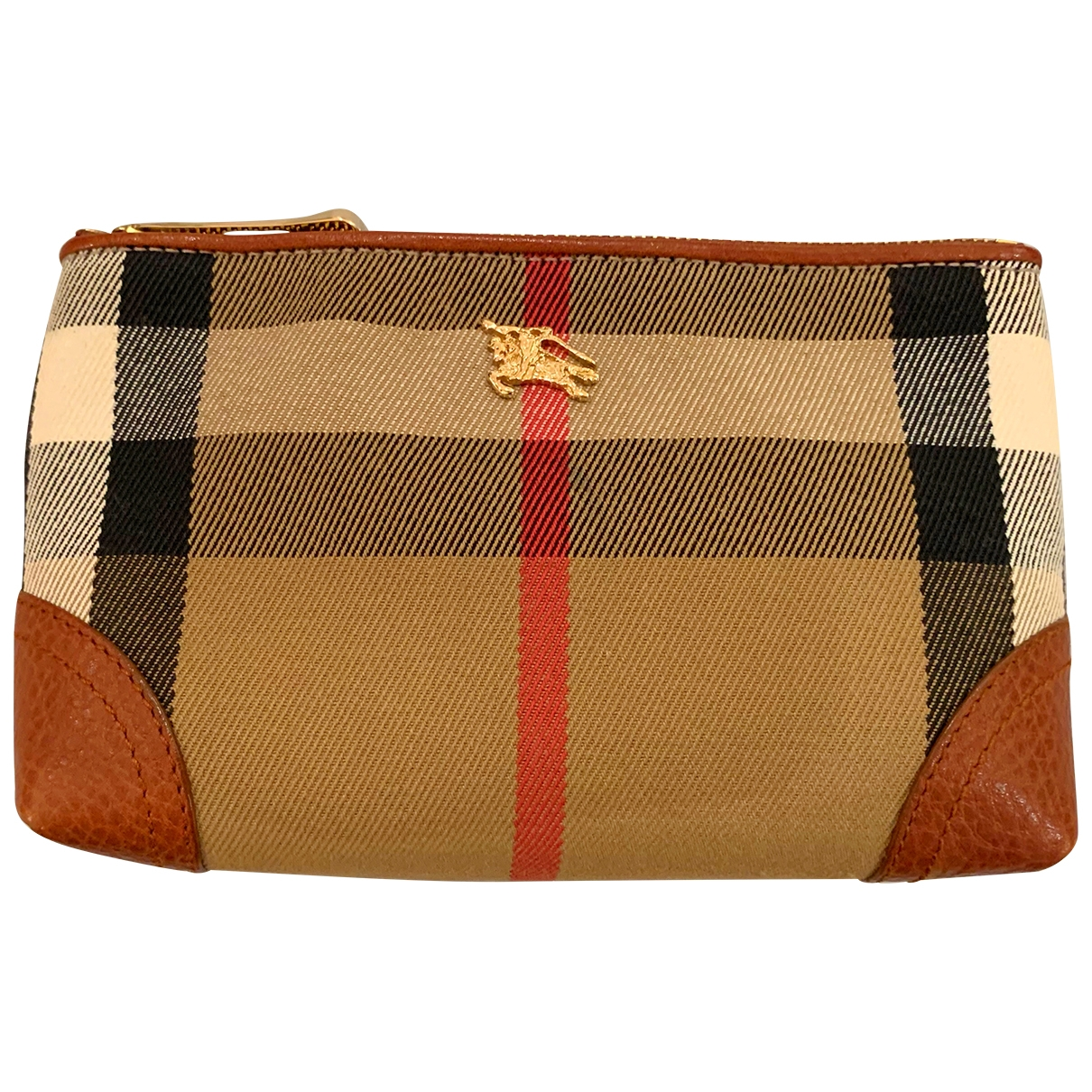 Burberry \N Clutch in  Beige Leinen